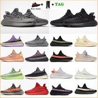 2021 En Kaliteli V2 Sneakers Kanye West Rahat Koşu Açık Ayakkabı 3 M Yansıtıcı Erkek Bayan Sneaker Ayakkabı Yeezy Yeezys 350 boost Yeşily Yeyzys Boyutu 36-45
