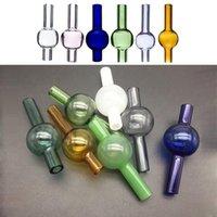 22mm Glass Ball Bubble Carb Cap For Quartz Thermal P Banger 10mm 14mm 18mm Quartz Thermal Nail For Oil Rigs Glass Bongs