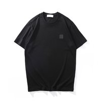 Fashion Topstoney Summer Icône Simple T-shirts Homme T-shirts de haute qualité Coton à manches courtes T-shirts tout match Confort Casual Couleur Solide Tops