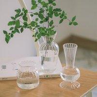 花瓶ノルディックミニマリストガラス花瓶クリエイティブホーム装飾インスティックスタイルの水耕木花瓶スタイリッシュな美しい