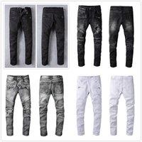 2021 Mens Fashion jean Skinny Straight Slim Ripped men street wear Motorcycle Biker man 946 jeans pants size 28-40
