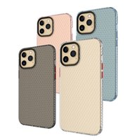 Space Honeycomb TPU doux TPU Armure de téléphone portable pour iPhone 12 11 Pro Max Mini XR XS X 8 7 6 Samsung S21 S20 Note20 Note10 Plus Ultra