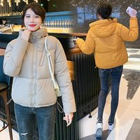 Women's Down & Parkas 2021 Winter Padded Jacket Korean Style Loose Stand-up Collar Long-sleeved Solid Color Short
