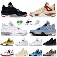 nike air jordan retro 4 off white 2021 Chegada Basquete Shoes Universidade Azul Branco Oreo Homens Homens Jumpman Taupe Haze Puro Dinheiro ForaSneakers de Treinadores Retro Jordan