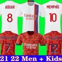 Olympique Lyonnais Lyon Soccer Jersey 21 22 Mailleot De Foot 2020 2021 Traore Memphis ol Mailleots de Football Shirt الرجال + أطفال مجموعة موحدة