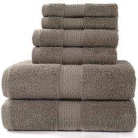 Полотенце роскошный набор ванн, 2 больших полотенца, 2 ручных мочалки. EL Quality мягкий хлопок очень абсорбирующие ванные полотенца