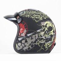 Motorcycle Helmets Open Face Half Helmet Moto Vintage Motorbike Casque Casco Good Quality Black Capacete De