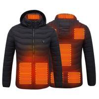 Casaco de luxo de marca de luxo jaqueta aquecida jaqueta aquecida colete algodão para baixo homens mulheres revestimento ao ar livre usb aquecedor elétrico casaco quente inverno térmico