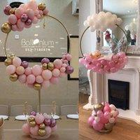 Decoración de fiesta globo arco globos anillo soporte para baby shower boda redondo hoop holder cumpleaños baloon balón