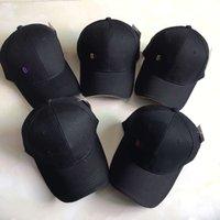 컬러 문자 자수 야구 모자 하이 엔드 디자이너 패션 모자, 순수면 조절 식 힙합 검은 바이저