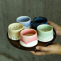 Mugs big capacity colorful ceramic tea porcelain teacups chinese kung fu Coffee cup 200ml 8.3x6.5cm