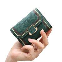 HBP Fashion new classic 2021 flip-cover female card bag big lichen head layer cowhide purse 10.5*7.5*3cmcm
