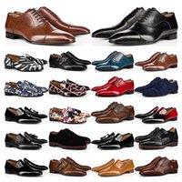 mens luxurys designers loafers oxford derby skor röda bottnar svart vit brun bule suede patent läder nitar glitter mode klänning bröllop verksamhet