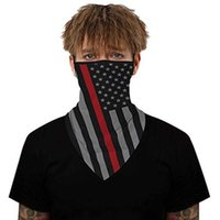 Fashion American Flag Maschera Maschera Uomo e Donne Anti-Fog Anti-Fog Bicycle Multi-Function Collo Sciarpa all'ingrosso