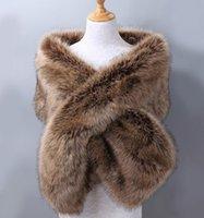 Wraps & Jackets 2021 Women Wedding Bridal Faux Fur Bolero Winter Warm Bride Party Accessories