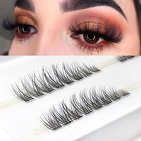 False Eyelashes Individual 3D C Curl 007 Single Cluster Premade Volume Fans Segmented Natural Lashes Mink Hair