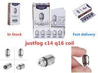 Justfog C14 P14A P16A Q14 Q16 Kit de atomizador Cabeza de bobina 1.2OHM 1.6OHM 100% orgánico japonés de reemplazo de algodón en stock