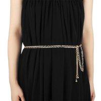 Belts SAGACE Women Thin Chain Dress Female Gold Silver Waist Body Small Belt Ladies Tassel Sequins Metal Ketting 2021