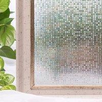 CottonColors Window Tint Tint Pleams Premium No-Clight 3D Статические декоративные наклейки для конфиденциальности 45 х 200см