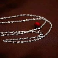 """10pcs Waves Waves Chaînes 1.2mm 925 Collier Sterling Silver Collier 16 """"-30"""" SH540 Q2"""