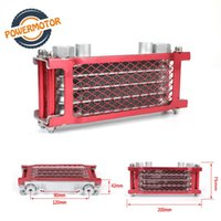 Radiador de la motocicleta Universal Enfriador de aceite Cooler Motocross Refrigeración para Monkey 110cc 125cc 140c.
