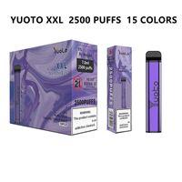 Yuoto XXL Jednorazowe elektroniczne zestawy papierosów 2500Puffs z pojemnością 4ml wbudowaną w 1200 mAH LED LED Light Light Achargable