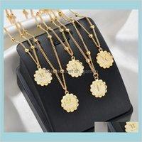 Collares colgantes llegada 12 constelación clásico 18k oro signo zodiaco redondo colgante colgante collar de cadena joyería nave entrega entrega
