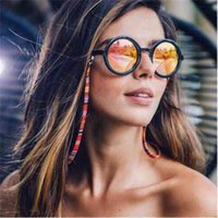 Retro Colorful Women Eyeglass Chains Strap Fashion Cotton Sunglasses Neck String Cord Retainer Eyewear Lanyard Holder 60pcs lot