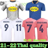 2021 Camiseta Real Madrid Soccer Jerseys Sergio Ramos 21 22 Rischio Benzema Kroos Camicia da calcio Asensio Valverde Modric ISCO Camitas Men + Kid Kit