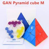 2021 GaN 피라미드 M 자기 3x3x3 매직 큐브 3x3 속도 피라미드 큐브 향상된 코어 위치 결정 자석 Cubo Mgaico