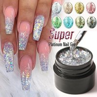 Nail Gel 5ml Sequin Glue Bright Art Polish Lasting UV Fingernails Glitter Decor Nails Accessories Manicure Tool