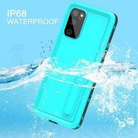 RedPepper IP68 met Screen Protector Waterdichte gevallen Full-Body Shockproof Dirtproof Diving Zwemmen Kickstand Case voor Samsung S8 S9 S10 Plus S20 Ultra Note 10