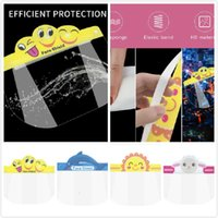 Kids Dhl Cartoon Face Shield Party Mask Full Protective Transparent Pet Protection Splash Droplets Head Cover Masks Boom2015 Lamy