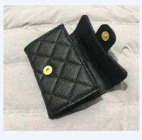 Элегантный черный флип-икра кошелек маленькая кожаная сумка леди держатель карты бренд мобильных телефонов сумки дизайнерский кошелек монет
