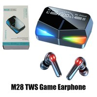 M28 Game TWS Earphone Low Latency Colorful Light Wireless Headsets Noise Cancelling Earbuds with Mic Bass Clear Sound Sports Headphone