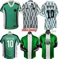 1998 Nigelia Soccer Jersey Home Over Couscsuit Okechukwu Okocha Ahmed Musa Mikel Iheanacho Футбольная рубашка