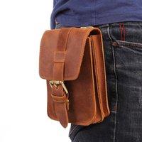Taille Sacs Misfits 2021 Sac à bandoulière en cuir véritable Sac Simple Simple Design Soft Soft Cowhide Hip Pack Handy Pocket