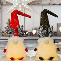 Dekoracje świąteczne Gnome z lekką Handmade Szwedzki Tomte Plush Scandinavian Elf Dekoracje Wakacje Decor Gwa8703