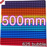 50CM!!! Best Super Big Size Push Bubble Fidget Toys Autism Needs Squishy Stress Reliever Rainbow Toys Adult Kid Funny Anti-stress Fidget Party Gifts IN STOCK CJ10