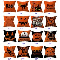 32 Styles Halloween Pillowcases Cover Throw Pillow Cushion Pillow Case Cover For Striped Dot Home Car Decoration Christmas GWB10433