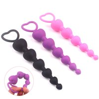 Heart Shape Anal Beads Plug Medical Silicone pussy Stimulator Ball Flexible Prostate Massager Trainer For Women Men Couple