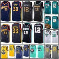 "Stephen 30 Curry James 33 Wiseman Ja 12 Morant Golden New State ""Warriors"" Jersey Memphis ""Grizzlies"" New Basketball Jersey Glod"
