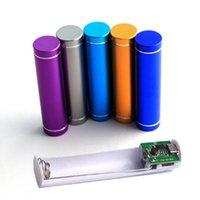 Алюминий 2600mAh Мобильный банк мощности без батареи 1 * 18650 Комплект зарядного устройства Мини-источник (батарея не входит в комплект)