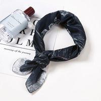 Scarves Small Kerchief Bag Scarf For Women Silk Satin Headband Fashion Print Neck Scarfs Female 53*53cm Lady Wholesale