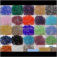 Свободные украшения Drop Доставка 2021 Оптовая 1000 шт. / Лот 4 мм - Crystal Spacer 5301 # Beads Diy u Выбрать 7qg9r