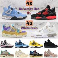 2019 bred 4 zapatillas de baloncesto sneakers hombres hombres thunder White Cement Pure Money Bred Royalty Game Royal 4s Zapatillas deportivas EE. UU. 7-13