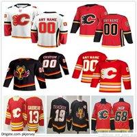 Custom Men Woman Kids Youth 2021 Reverse Retro Calgary Flames Dominik Simon Joakim Nordstrom Josh Leivo Juuso Valimaki Ice Hockey Jerseys