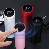 Fashion Smart Stainless Steel Mug Water Bottle Temperature Display Vacuum Kettle Bottles Thermo Cup With LCD Touch Screen Gift