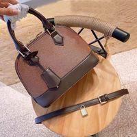 여성 패션 alma bb 어깨 가방 고품질 monogrampvc 소재 핸드백 더블 핸들 크로스 바디 키 가방 대용량 상자