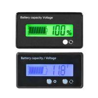 12V 24V 36V 48V 6V-63V LCD-voltmeter bly-syra batterikapacitetsindikator - blå